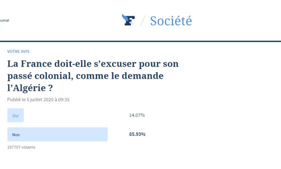 Selon un Sondage du Figaro Près de 86% des Français hostiles aux excuses