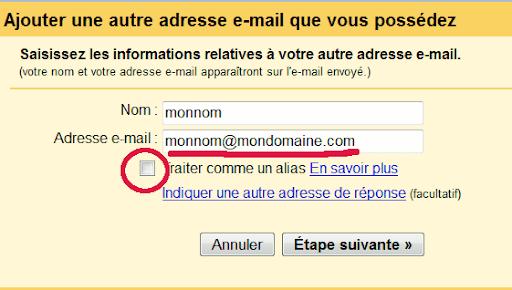 Bon à savoir : L'email n'est pas une adresse postale