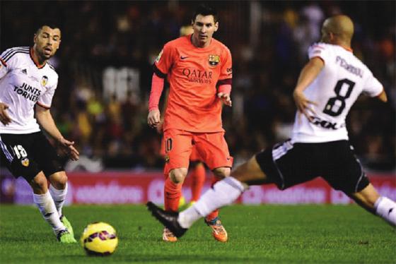 Cruelle défaite pour Valence devant le Barça