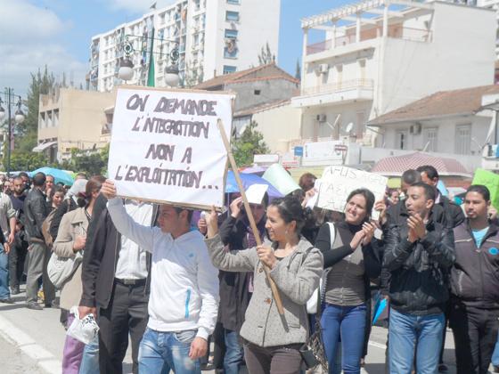 Les sans emplois en colère à Béjaïa