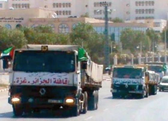Un premier convoi humanitaire algérien à Gaza après des mois de blocus