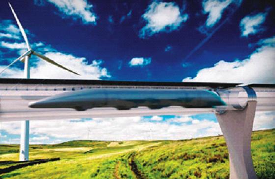 Hyperloop prépare étudie  le train du futur