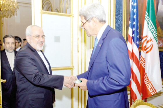 Kerry et Zarif entament des discussions à Paris