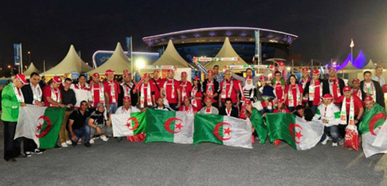Les supporters algériens très déçus