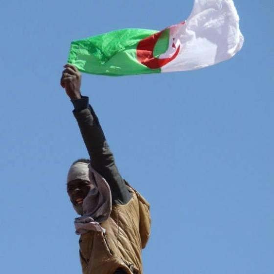Photo trend: Un manifestant d'In Salah