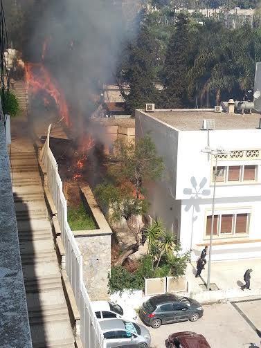 Incendie au Palais du gouvernement