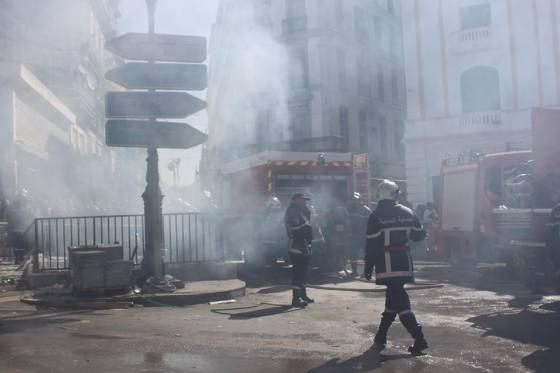 Gigantesque incendie dans un souterrain à Constantine