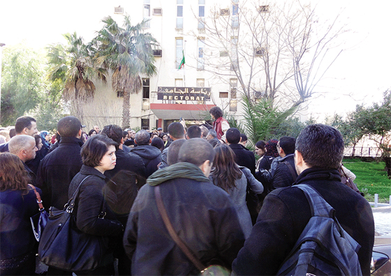 Sit-in des enseignants, étudiants et travailleurs