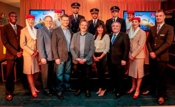 Emirates accueille l'équipe de National Geographic pour le tournage de « IN–Flight »