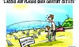 L'accès aux plages sera gratuit cet été