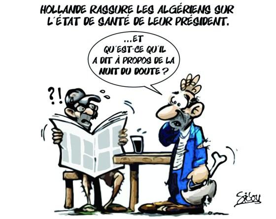 Hollande rassure les algériens