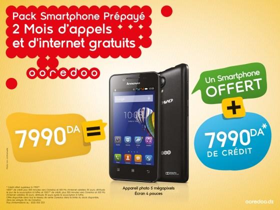 Ooredoo lance le Pack Smartphone Prépayé LENOVO A319