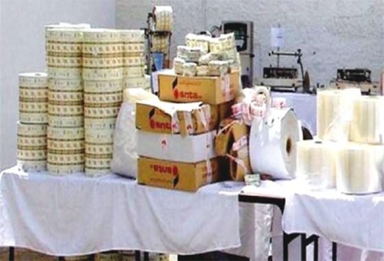 Un atelier clandestin de fabrication de tabac à chiquer