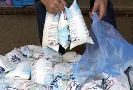 Le lait en sachet commercialisé provisoirement dans un emballage en carton
