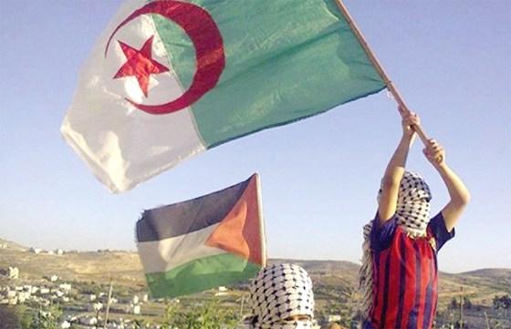 L'emblème algérien flotte en Cisjordanie, Ghaza et El Qods