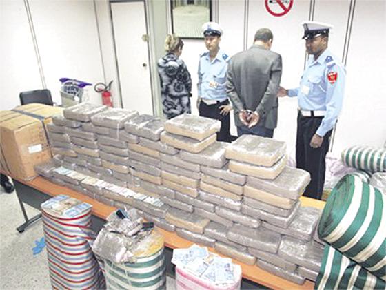 Arrestations et saisies de grosses quantités de kif