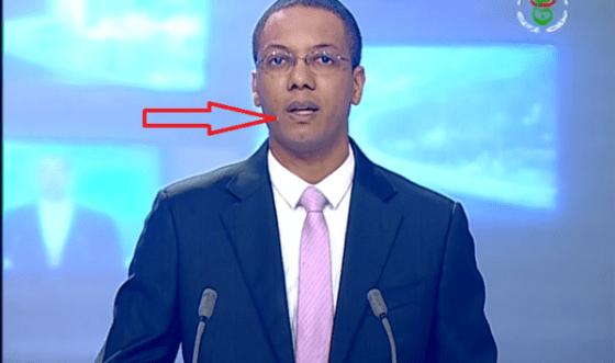 Un présentateur du JT verse une larme en direct