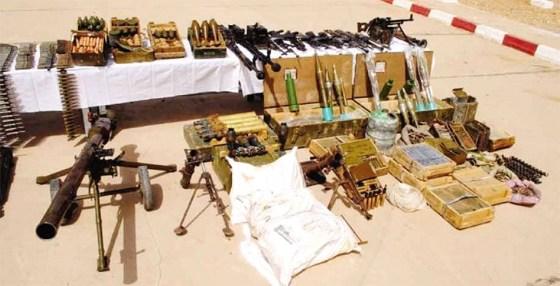 Des armes saisies quotidiennement aux frontières du Sud