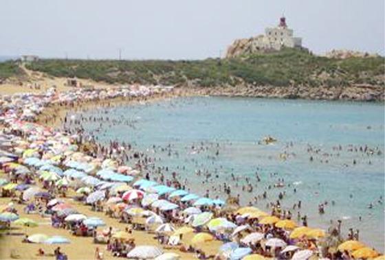 Skikda : La plage Oued Lagsab (Filfila)  une des destinations préférées des estivants