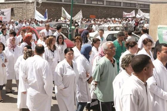 Les médecins internes dans la rue