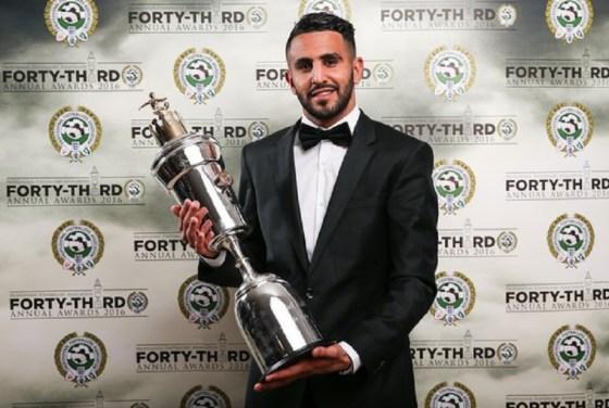 Angleterre: Mahrez, meilleur joueur de l'année
