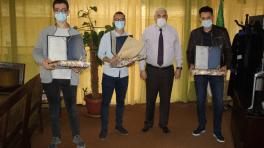 Huawei ICT Compétition : trois lauréats récompensés par le recteur de l'USTHB