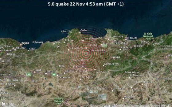 Un séisme de 5,2 frappe la région de Skikda