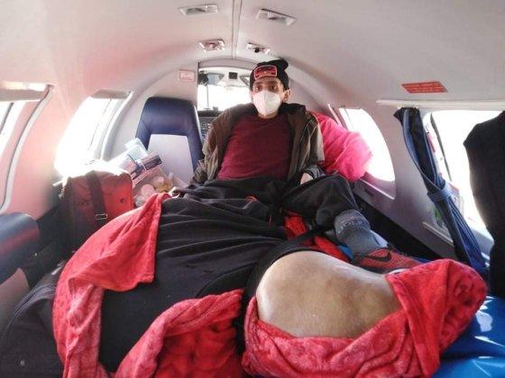 Souffrant d'une jambe de 120kg, Amine transféré en Allemagne