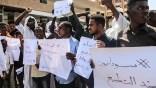 Des soudanais manifestent contre la normalisation avec Israël