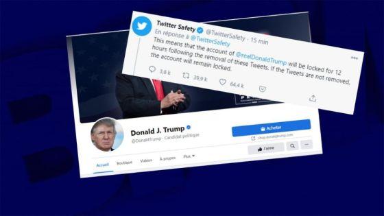 Twitter bloque le compte de Donald Trump