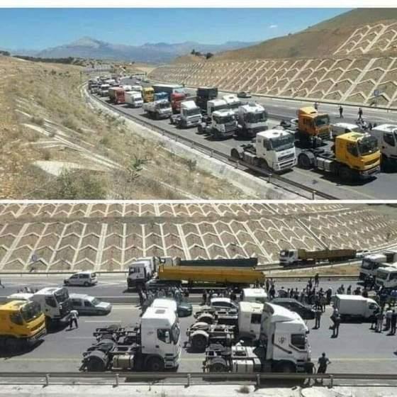 Les conducteurs de camions bloquent l'accès vers Alger