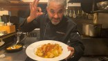 Nabil Houhou et son poisson à la meunière