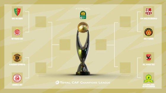 Ligue des champions :Le CRB affrontera l'EST et le MCA face au WAC