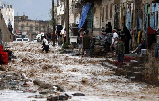 Des inondations meurtrières au Yémen