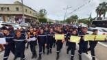 Marche des pompiers à Béjaïa en soutien à leurs collègues suspendus