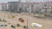 Turquie: Une terrible inondation dans la ville d'Artvin !