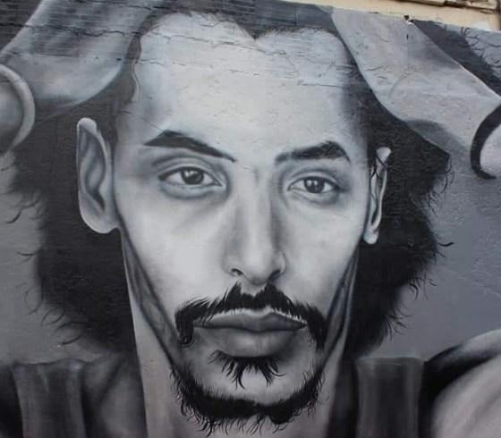 Une fresque à Meliana à la memoire de Djamel Bensmail