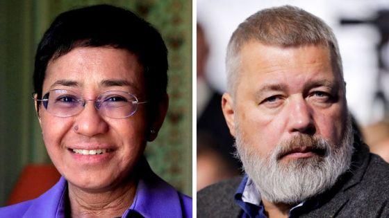 Le prix Nobel de la paix à Maria Ressa et Dimitri Muratov