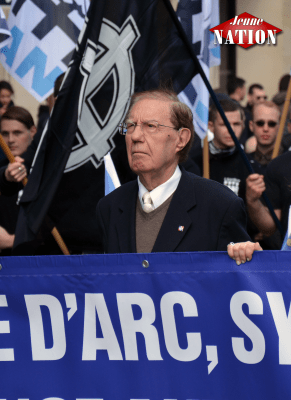 Pierre Sidos en tête des défilés ce dimanche à Paris : les nationalistes honorent leurs anciens !