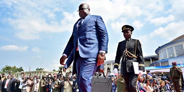 Le chef de l'État congolais Félix Tshisekedi, à Kinshasa, le 24janvier.