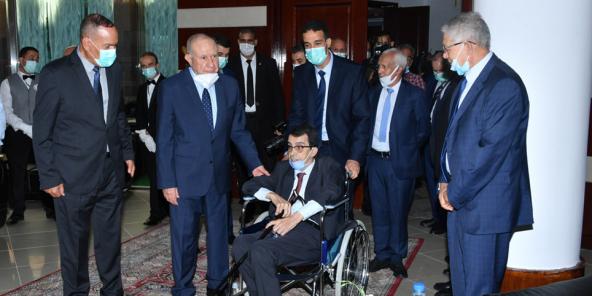 Le général algérien Hocine Benhadid lors de la cérémonie de la fête de l'Indépendance, le 5 juillet