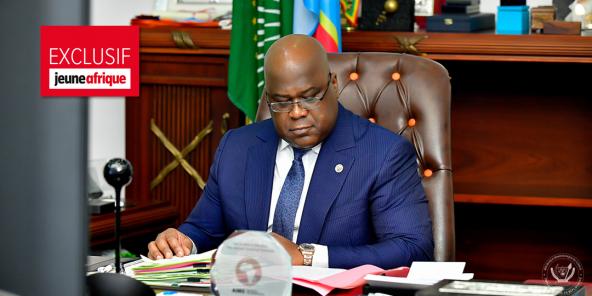 Le président congolais Félix Tshisekedi préside le Conseil des ministres, en juin 2020.