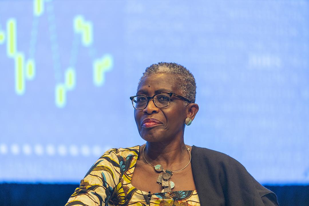 Antoinette Sayeh, directrice générale adjointe du FMI, en octobre 2019, à Washington.