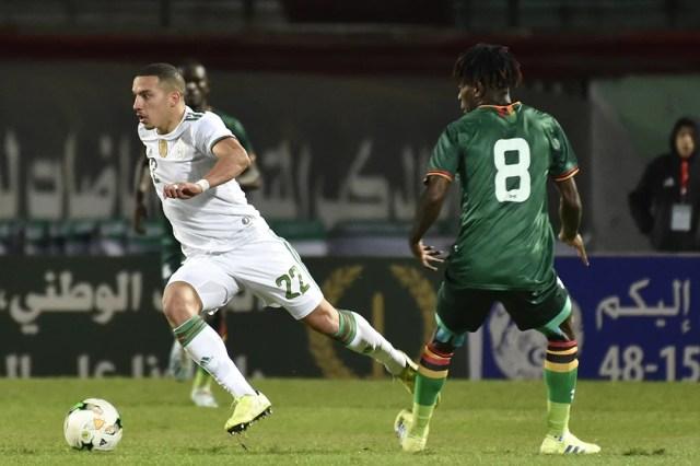 Le milieu de terrain algérien Ismaël Bennacer pendant le match de qualification pour la CAN contre la Zambie, le 14 novembre 2019