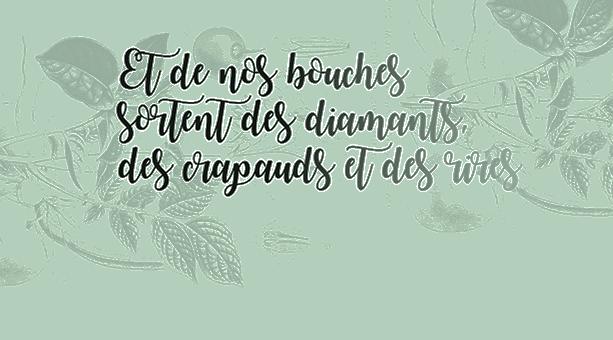Et de nos bouches sortent des diamants, des crapauds et des rires - Journée de rencontres