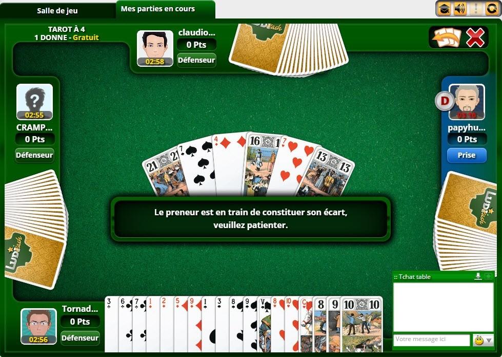 Jeu de tarot en ligne gratuit et multijoueur sur JeuTarot.fr 0f7b38a5320e