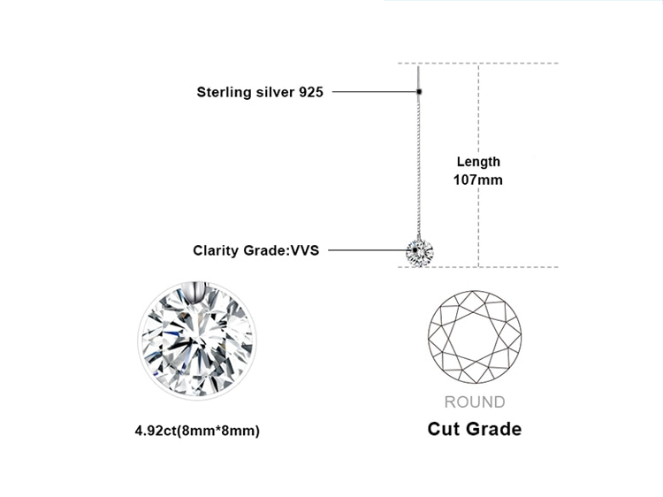 JewelryPalace 925 Sterling Silver Cubic Zirconia CZ Long Drop Earrings For Women Korean Earrings 2019 Earings Fashion Jewelry