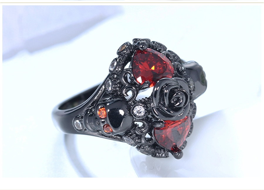 Ryzei Black Skull Ring