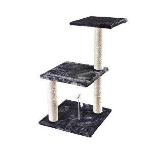 Arbre à chat, Ocool Petit arbre à chat en sisal Griffoir meubles Maison pour panier pour animal domestique Chaton jouet Chat Condo Tour pour Chatons