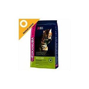 Eukanuba contrôle Hairball Adulte Croquettes pour chat Nourriture pour chat d'intérieur (4KG) (lot de 6)